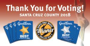 Congrats… Goodtimes 'Best of' Santa Cruz Award Winners!